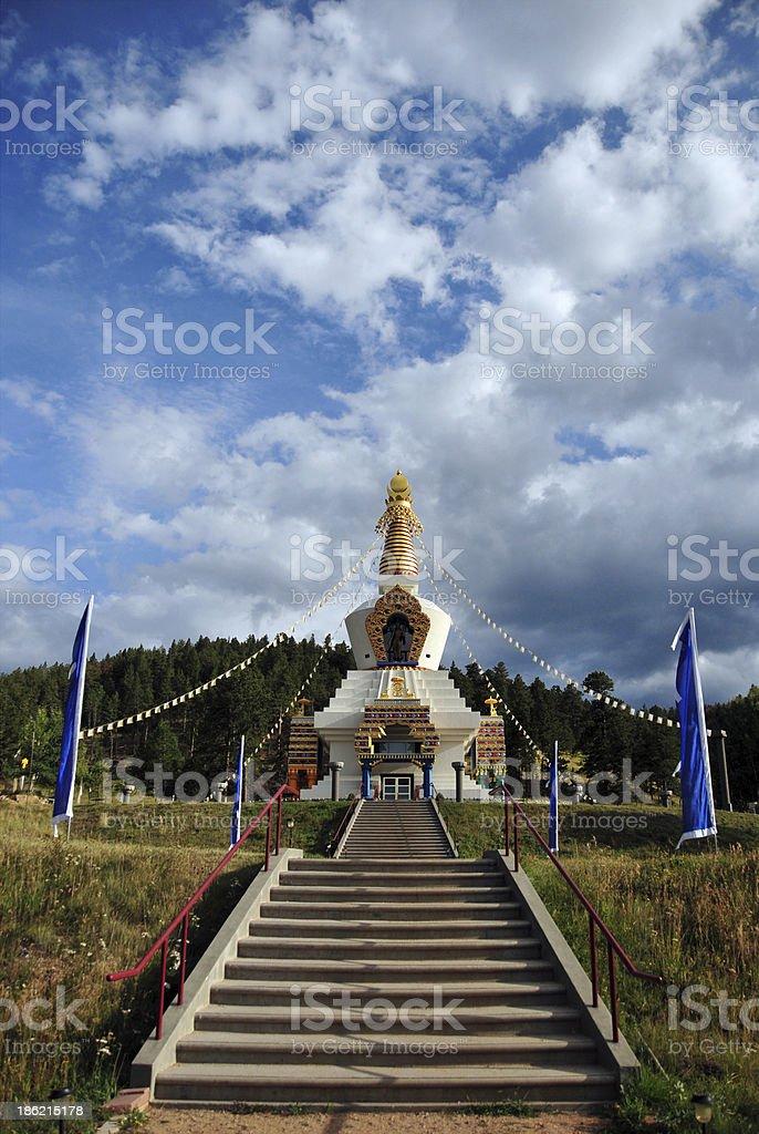 Great Stupa of Dharmakaya, Colorado, USA stock photo
