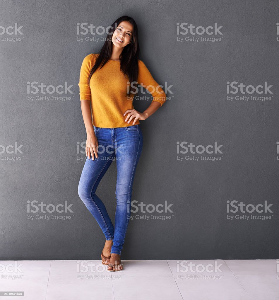Great style and a matching smile stock photo
