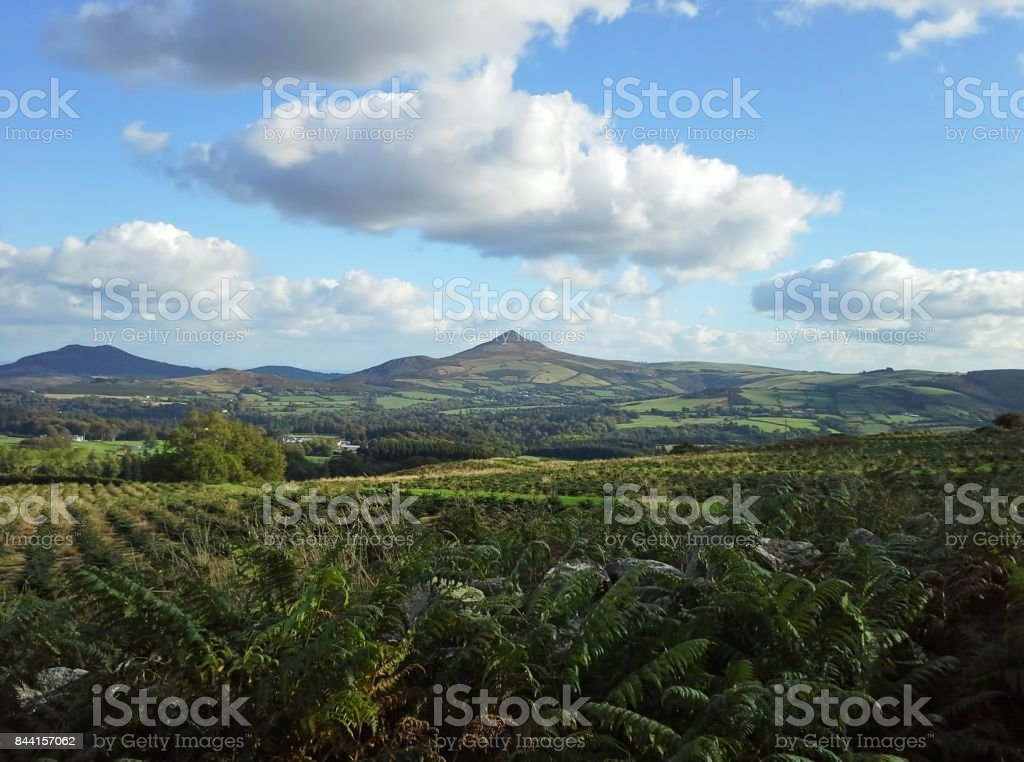 Great Sugar Loaf Mountain, County Wicklow, Ireland stock photo