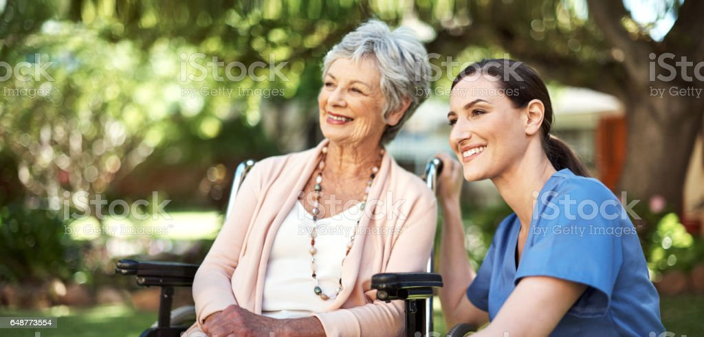 Great support for the golden years stock photo