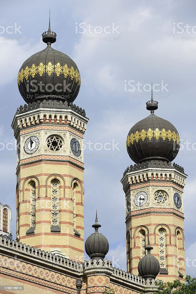 Great Synagogue Budapest royalty-free stock photo