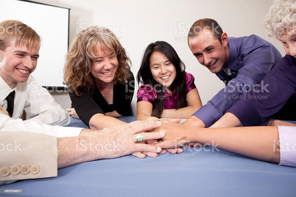 Great teamwork royalty-free stock photo