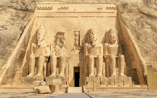 Great temple of Abu Simbel in Egypt