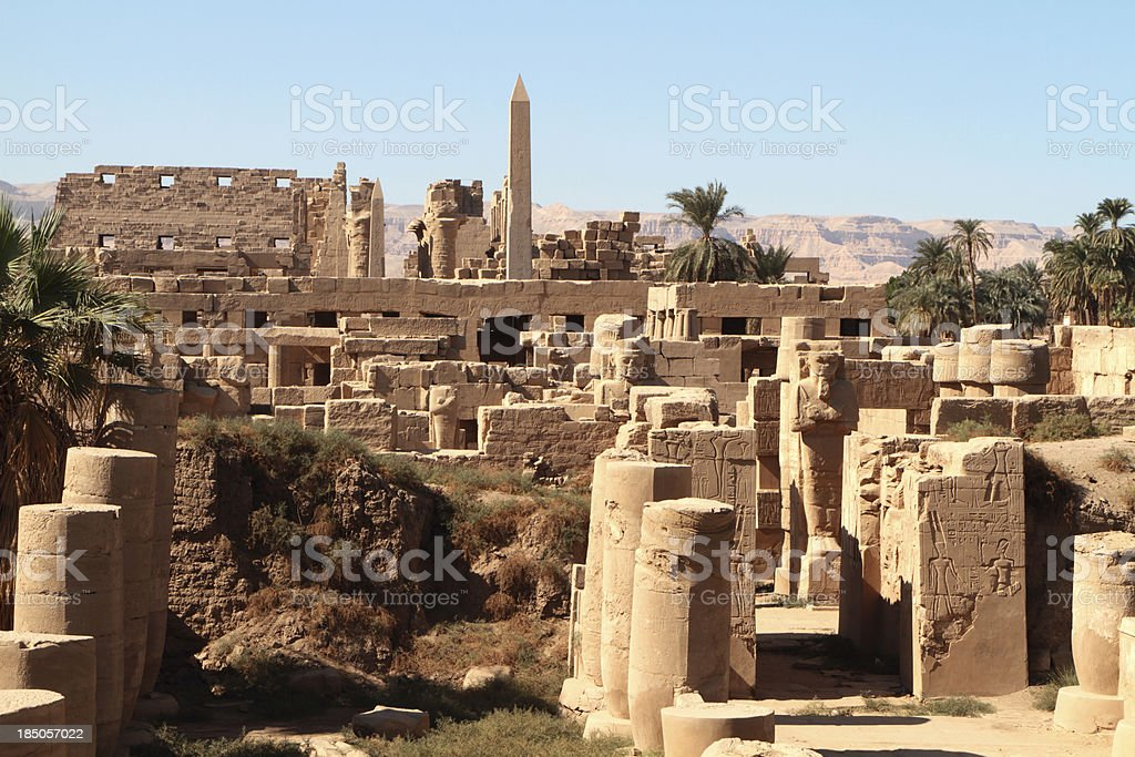 Great Temple of Amun, Karnak, Egypt. stock photo
