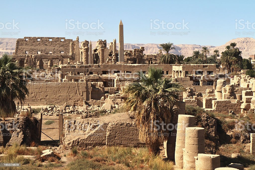 Great Temple of Amun, Karnak, Egypt. stock photo