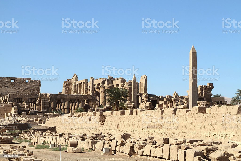 Great Temple of Amun, Karnak, Luxor, Egypt stock photo