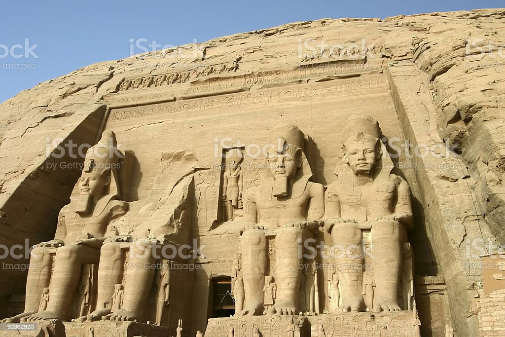 Great Temple of Rameses II in Abu Simbel Egypt royalty-free stock photo