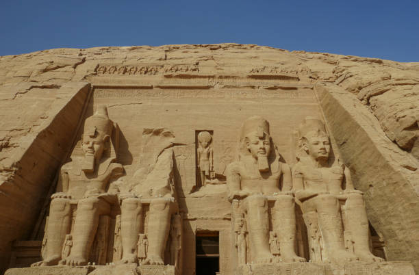 Great Temple of Ramesses II at Abu Simbel Temple Complex in Upper Egypt in Northern Africa stock photo
