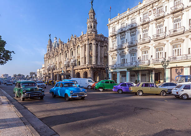 Great Theatre, old town, Havana stock photo