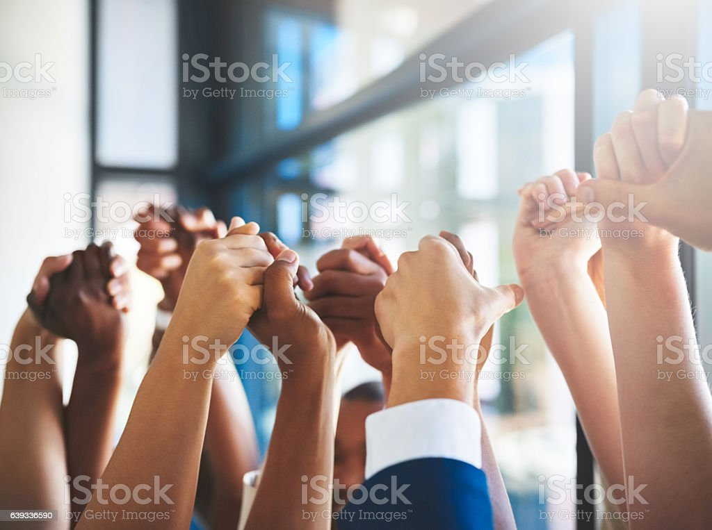 Great things in business are never done alone stock photo