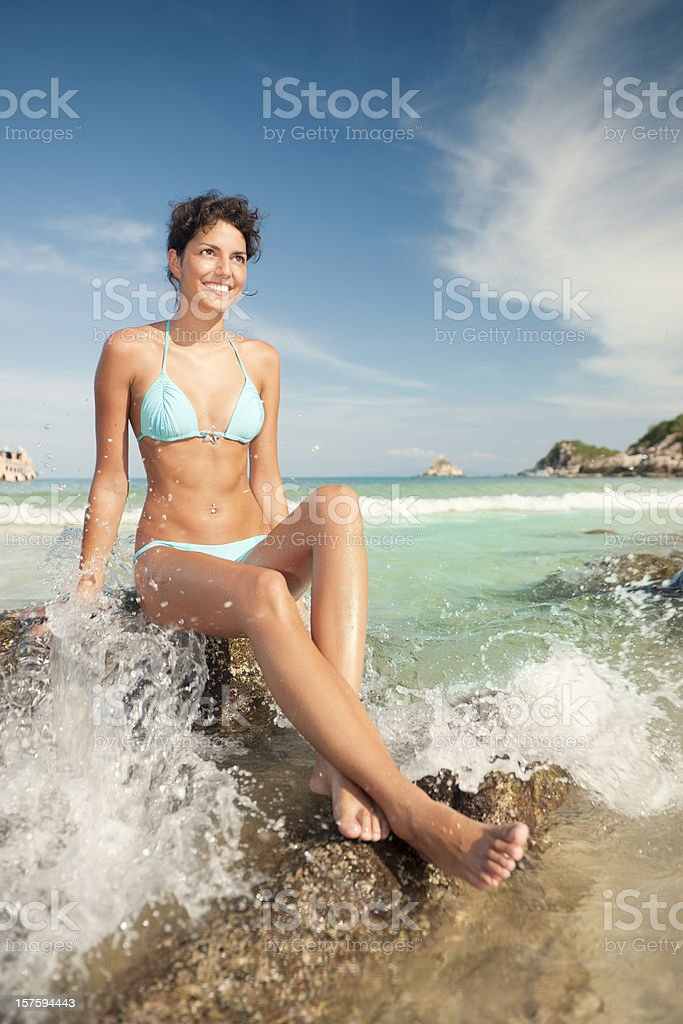 Great Time at the Beach (XXXL) royalty-free stock photo