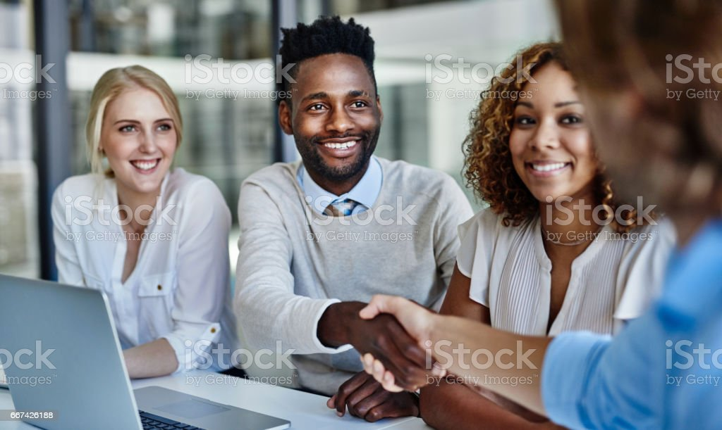 Great to have you with us stock photo