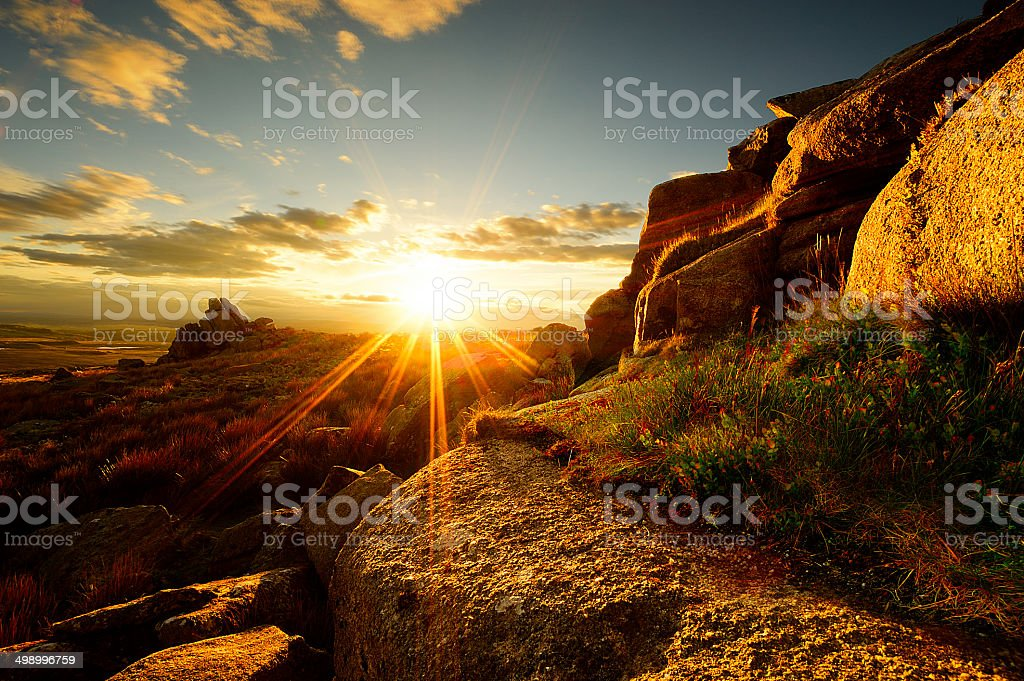 Great Trowelsworthy Tor stock photo