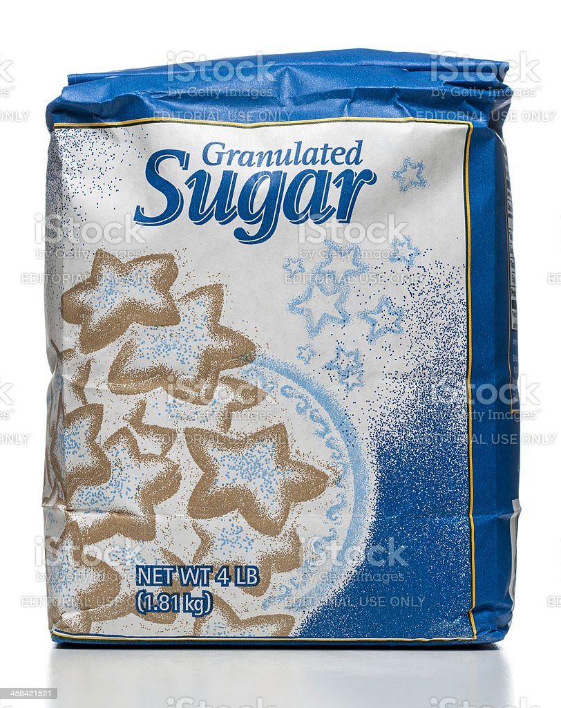 Great Value granulated sugar package royalty-free stock photo