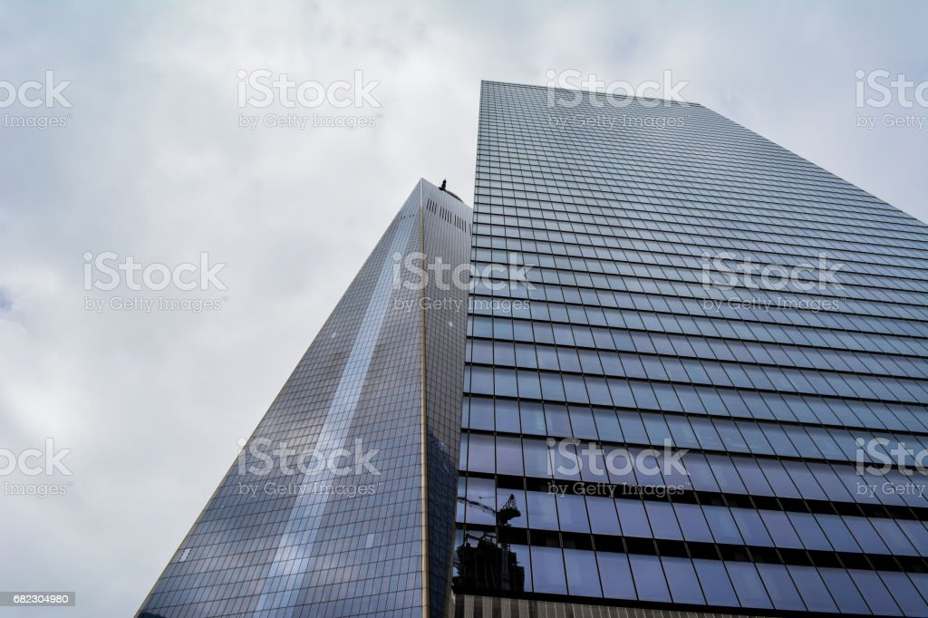 Great view from architecture in New York City stock photo