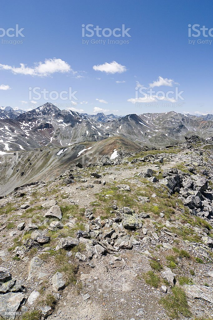 Great view on top of a mountain royalty-free stock photo