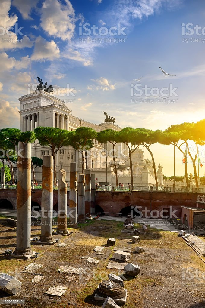 Great Vittoriano in Rome stock photo