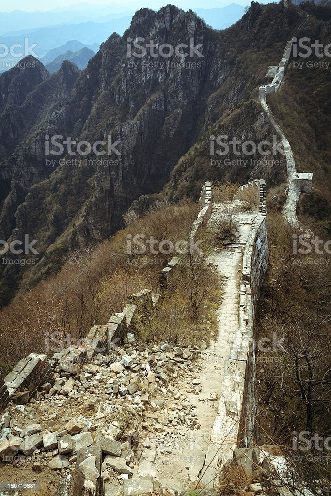 Great Wall at JianKou royalty-free stock photo