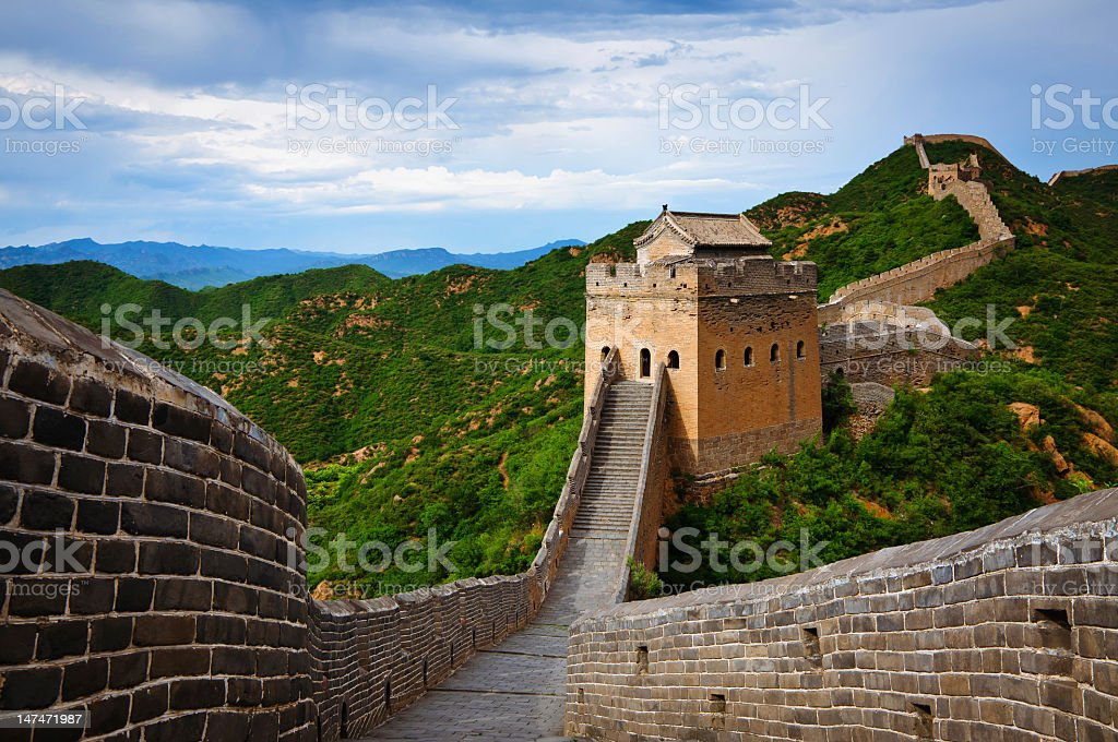 Great Wall at Jinshanlin stock photo