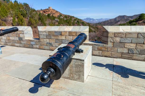 great wall defense kanon - chinese military bildbanksfoton och bilder