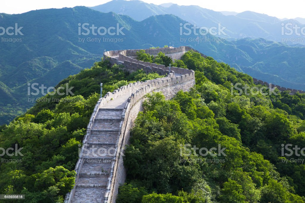 Great wall detail stock photo
