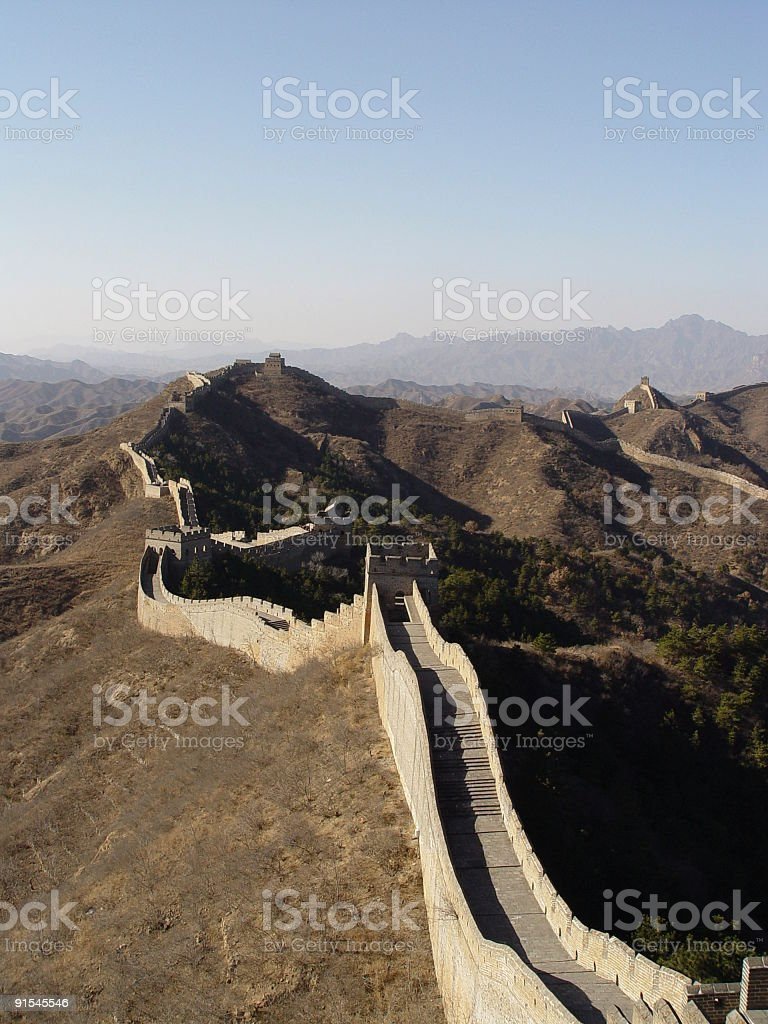 Great Wall - Expanse-of-Wall stock photo