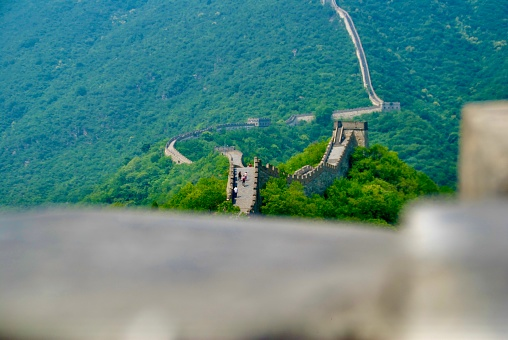 Great wall from behind the wall