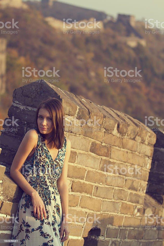 Great wall girl royalty-free stock photo