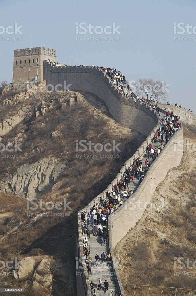 Great Wall in C stock photo