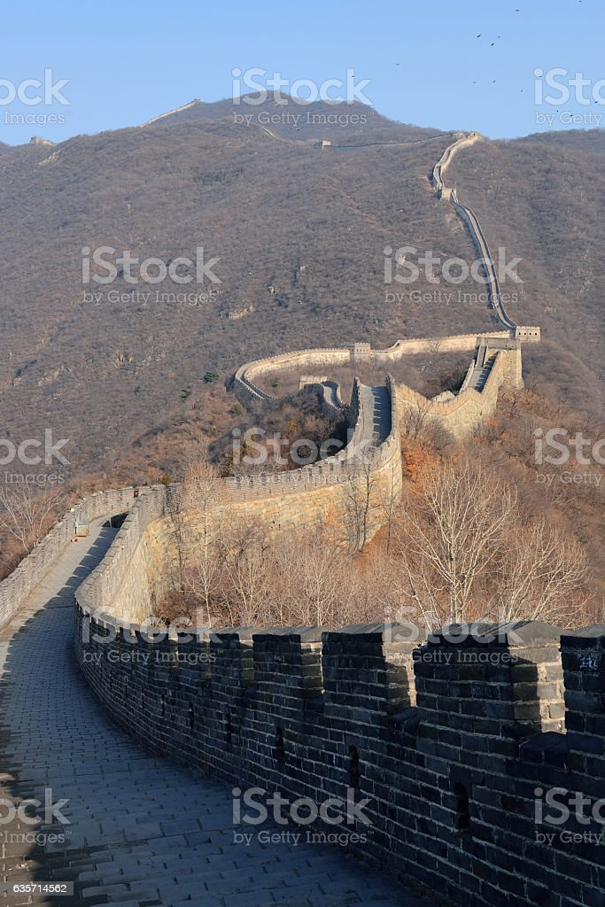 Great Wall in the morning royalty-free stock photo