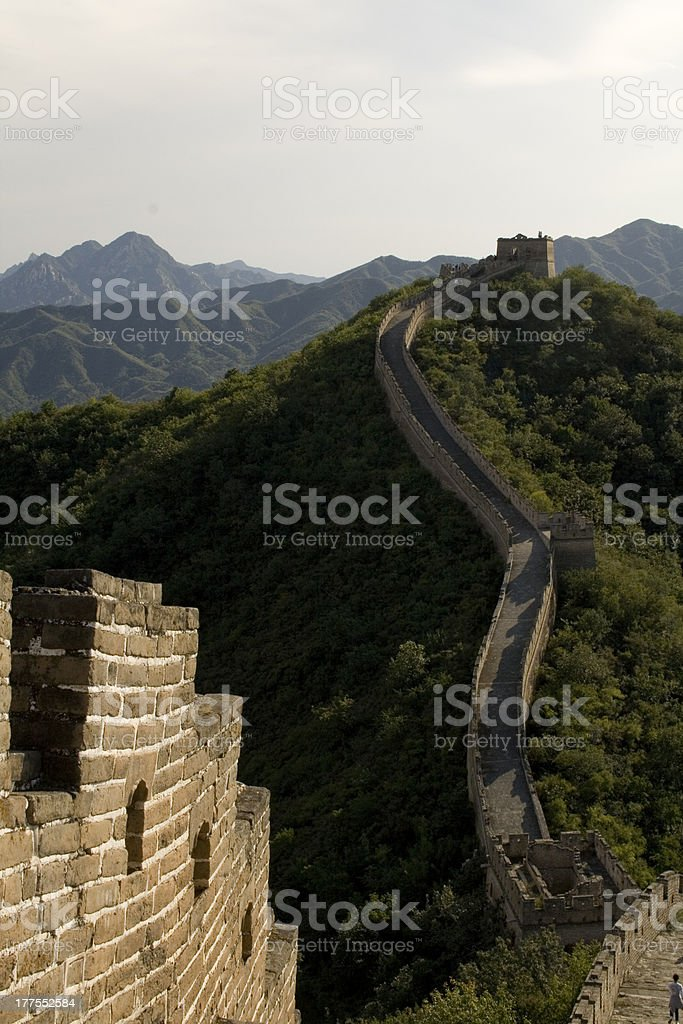 Great Wall of China, Beijing region stock photo