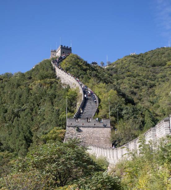 Große Mauer von China Klettern über Hügel. – Foto