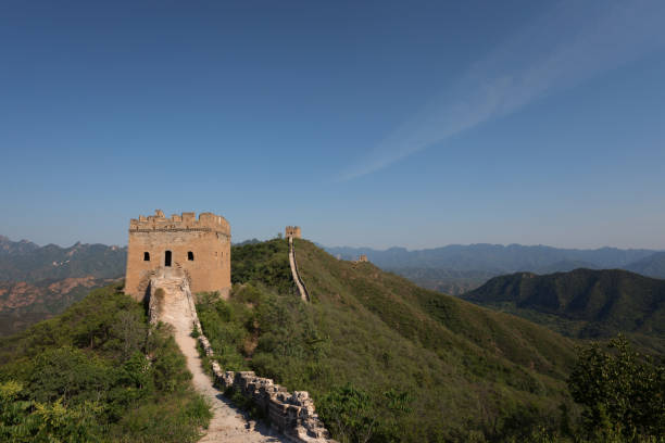 Great Wall of China guardhouse stock photo