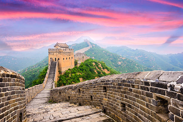 great wall of china - travel destinations stock photos and pictures