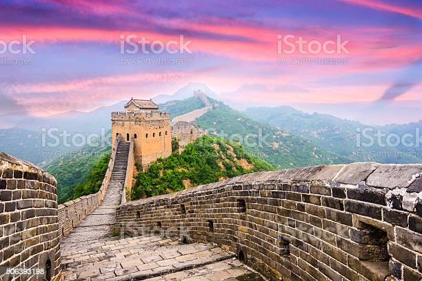 Great Wall of China at the Jinshanling section.