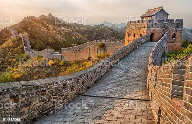 Great Wall Of China Stockfoto und mehr Bilder von Abenddämmerung