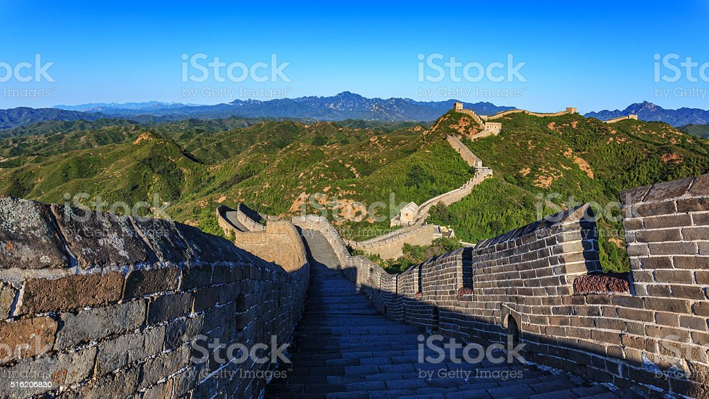 Great Wall of China. stock photo