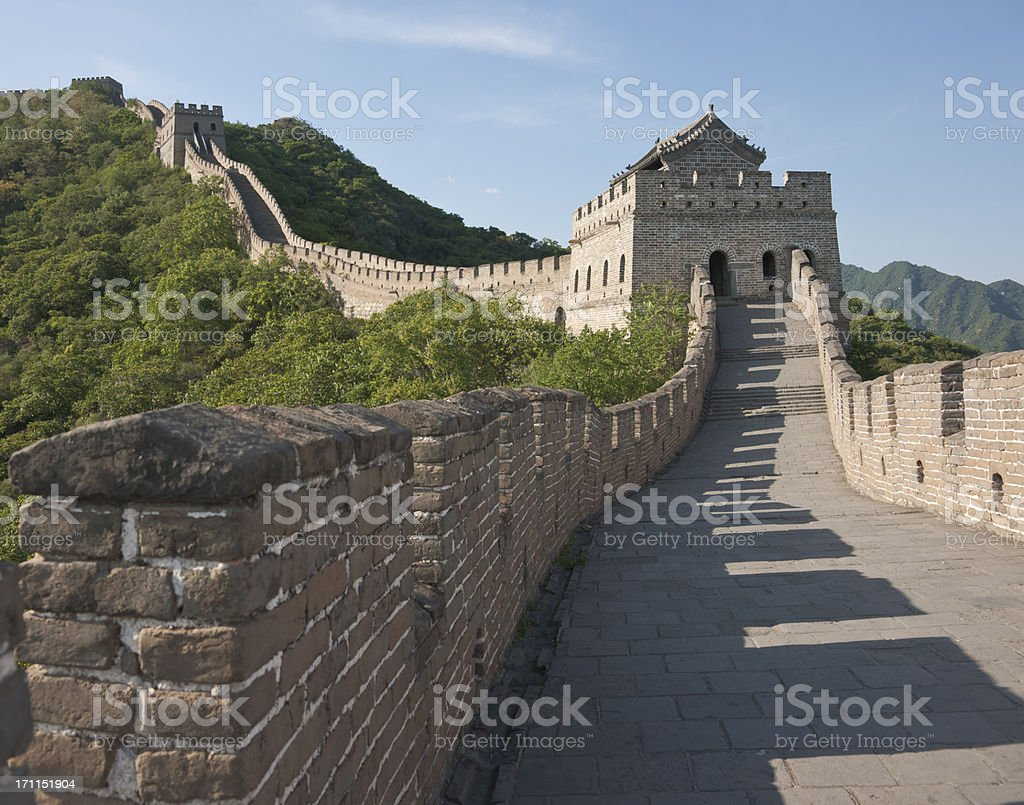 Great Wall of China & Three Watchtowers royalty-free stock photo