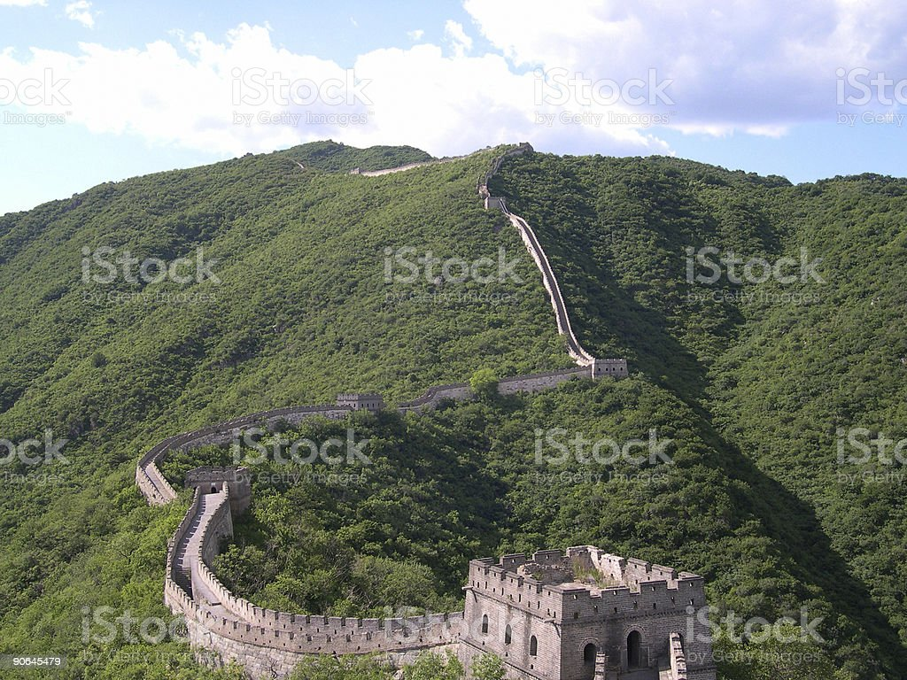 Great Wall of China with Sky royalty-free stock photo