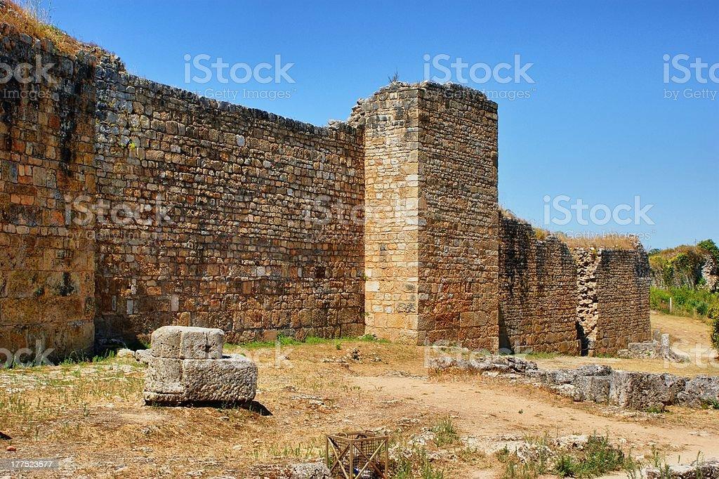 "Great wall of Conimbriga ""Great wall of Conimbriga, Portugal"" Ancient Civilization Stock Photo"