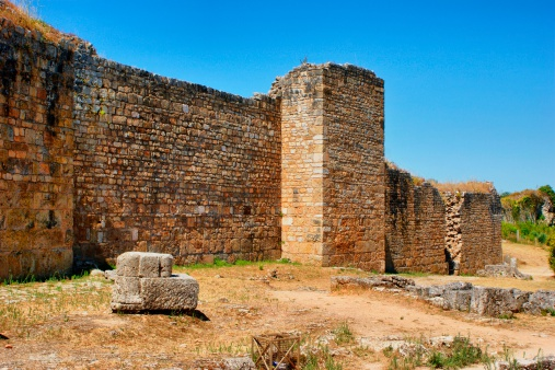 Great Wall Of Conimbriga Stock Photo - Download Image Now