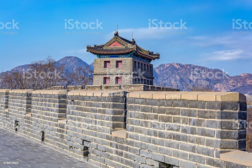 Great wall of Shanhaiguan Pass in China stock photo