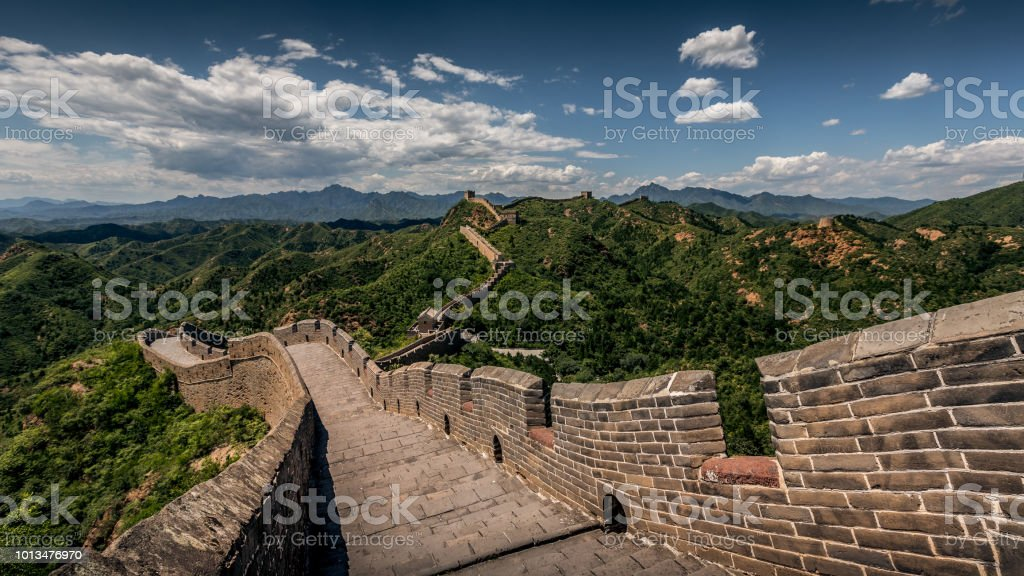 Great Wall Great Wall of China. Adventure Stock Photo