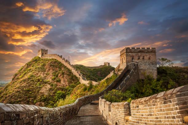 great wall - cina foto e immagini stock