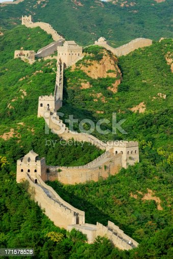great wall in Hebei province, China