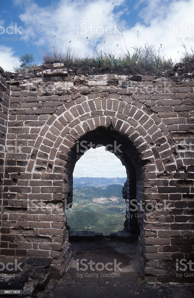 great wall ruin royalty-free stock photo
