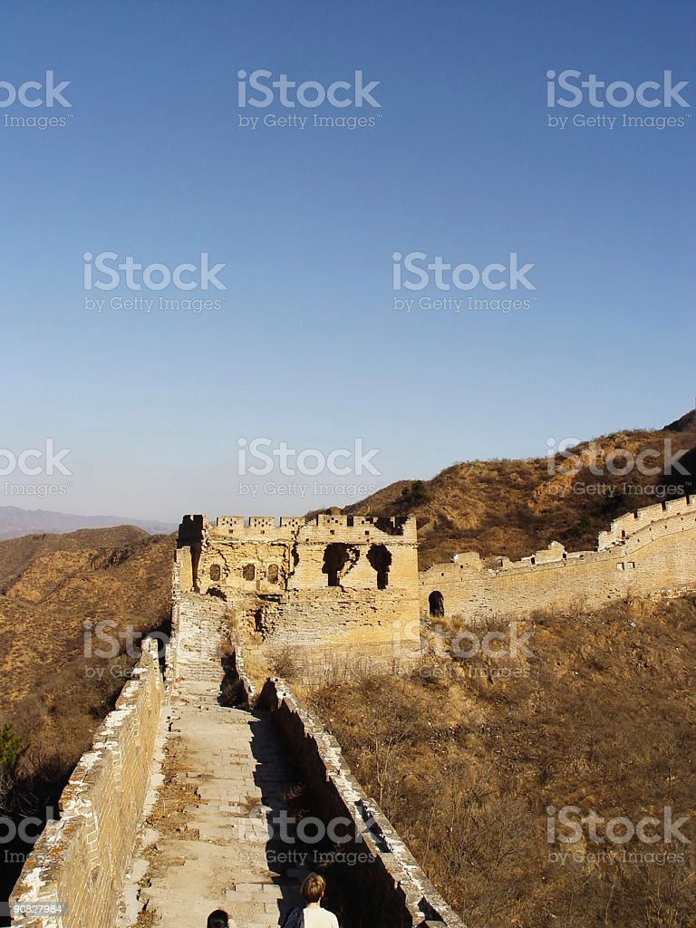 Great Wall - Showing width stock photo