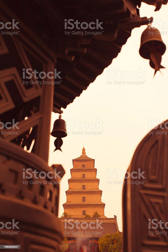 Great Wild Goose Pagoda stock photo
