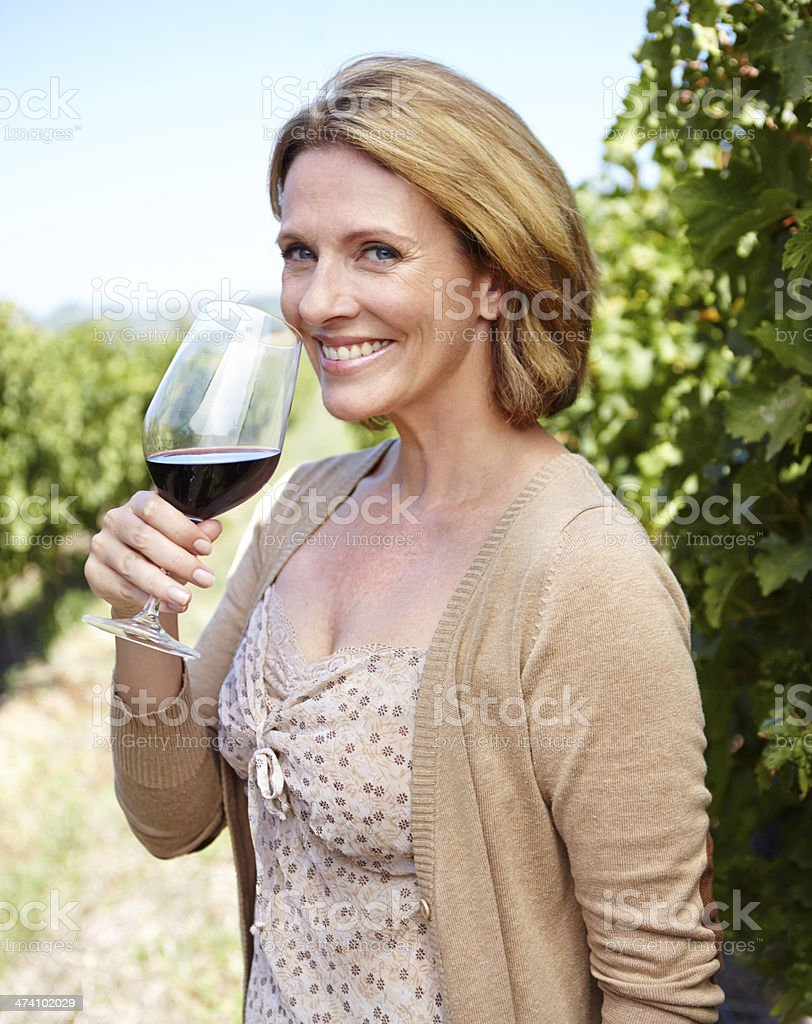Great wine needs a well-developed palate! royalty-free stock photo
