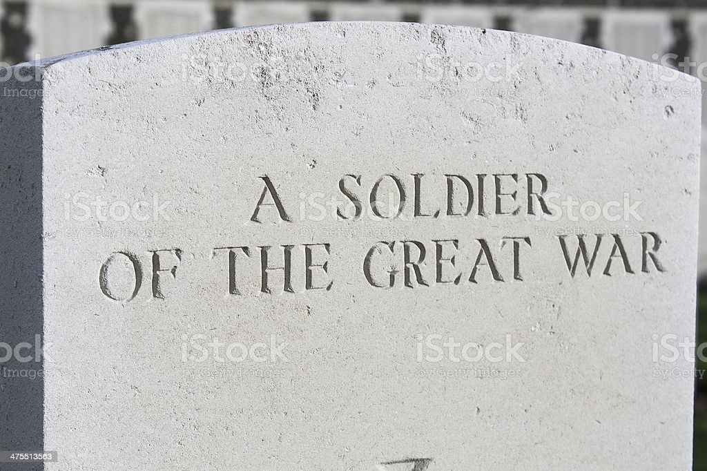Great world war 1  flanders fields belgium Cemetery stock photo
